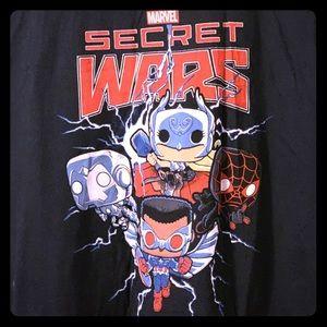 "Marvel Shirts - Marvel/Funko ""Secret Wars"" T-Shirt, 3XL"